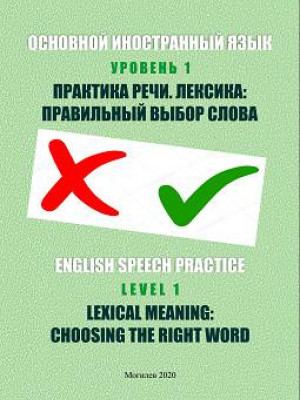 Основной иностранный язык. Уровень 1. Практика речи. Лексика: правильный выбор слова