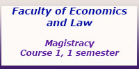 Magistracy, Course 1, 1 semester, Schedule of classes